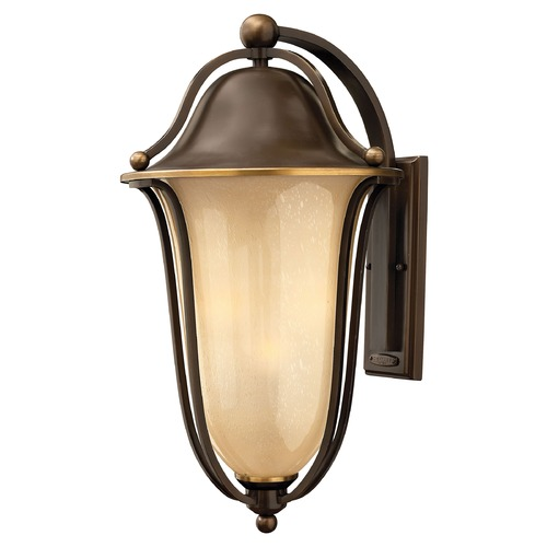 Hinkley Lighting Outdoor Wall Light with Amber Glass in Olde Bronze Finish 2639OB