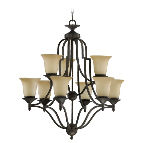 Quorum Lighting Quorum Lighting Coventry Toasted Sienna Chandelier 615-9-44
