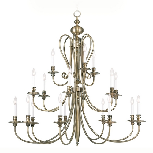Livex Lighting Livex Lighting Caldwell Antique Brass Chandelier 5179-01