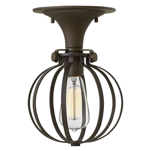Hinkley Lighting Hinkley Lighting Congress Oil Rubbed Bronze Semi-Flushmount Light 3115OZ