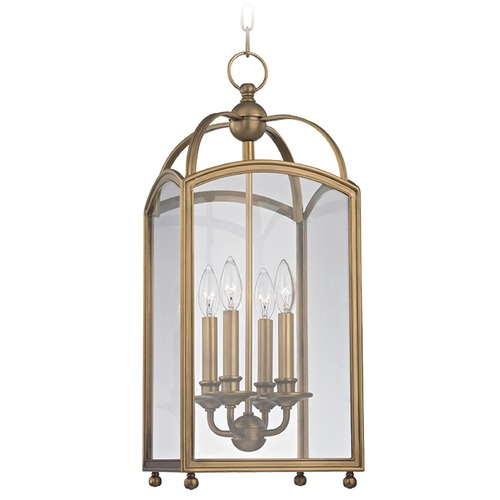 Hudson Valley Lighting Millbrook 4 Light Mini-Pendant Light Square Shade - Aged Brass 8410-AGB
