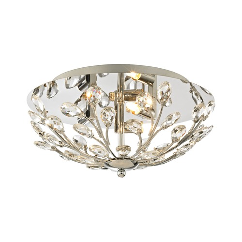 Elk Lighting Elk Lighting Crystique Polished Chrome Flushmount Light 45260/3