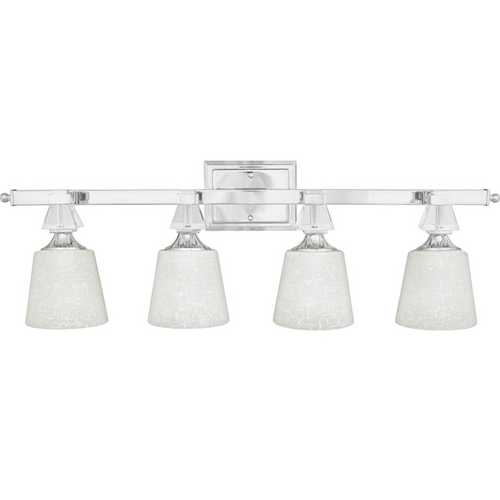 Quoizel Lighting Modern Bathroom Light in Polished Chrome Finish DX8604C
