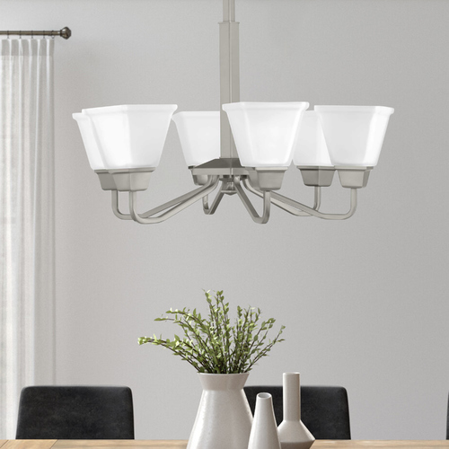 Progress Lighting Progress Lighting Clifton Heights Brushed Nickel 6-Light Chandelier P400119-009