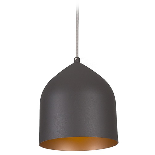 Kuzco Lighting Kuzco Lighting Helena Graphite with Copper Mini-Pendant Light with Bowl / Dome Shade 49108-GH/CP