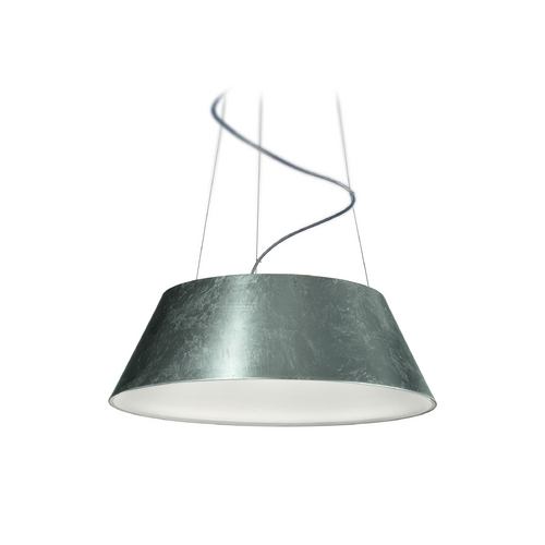 Philips Lighting Modern LED Drum Pendant Light in Silver Finish 405501748