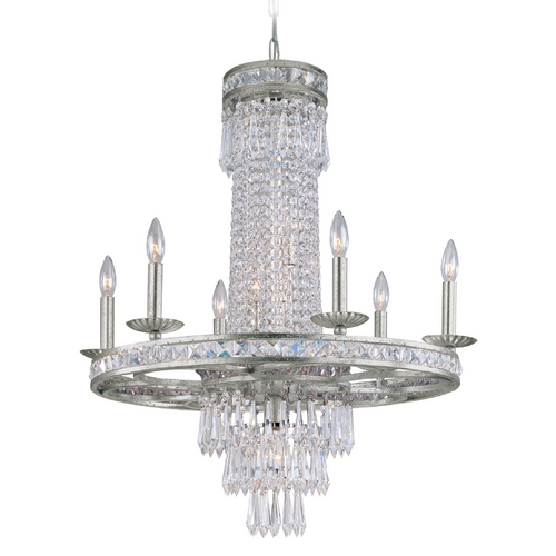 Crystorama Lighting Crystal Chandelier in Olde Silver Finish 5266-OS-CL-MWP