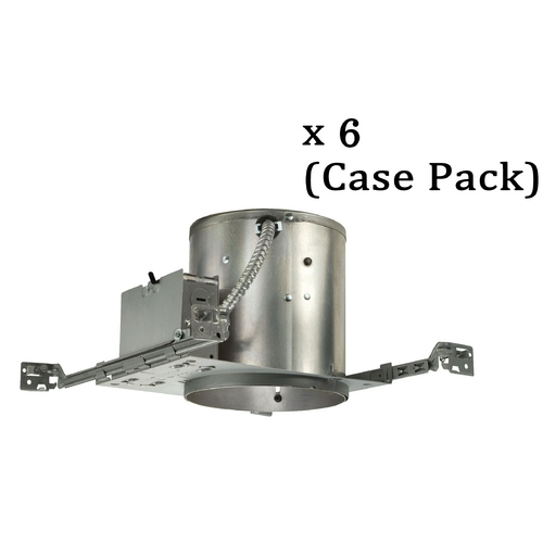 Juno Lighting Group 6-Inch Economy Recessed Can for New Construction - Case Pack of Six IC-22W-CASE