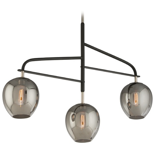 Troy Lighting Troy Lighting Odyssey Carbide Black and Polished Nickel Pendant F4299
