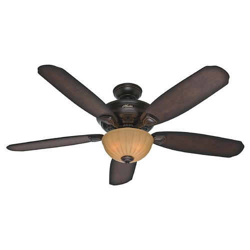 Hunter Fan Company Hunter Fan Company Markley Onyx Bengal Ceiling Fan with Light 53255