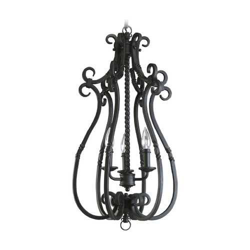 Progress Lighting Progress Pendant Light in Forged Black Finish P3840-80