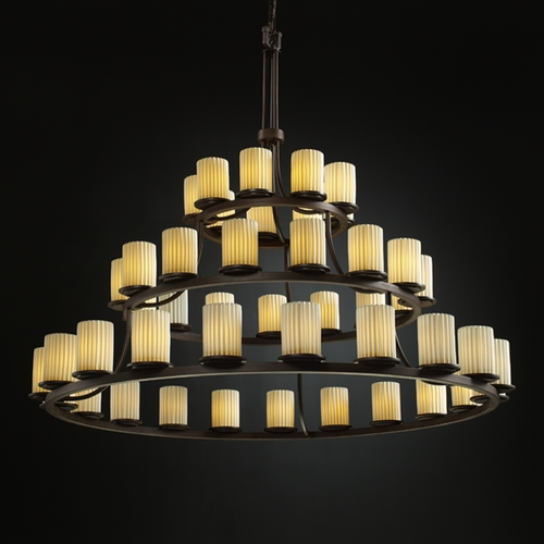 Justice Design Group Justice Design Group Limoges Collection Chandelier POR-8714-10-PLET-DBRZ