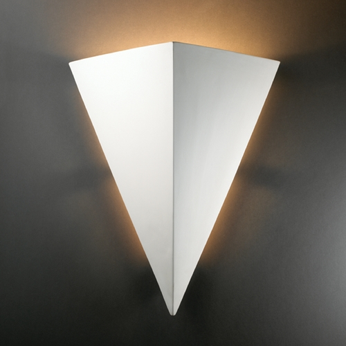 Justice Design Group Triangle Sconce Wall Light in Bisque Finish CER-1140-BIS