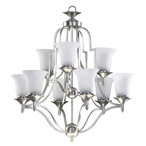 Quorum Lighting Quorum Lighting Coventry Satin Nickel Chandelier 615-9-65