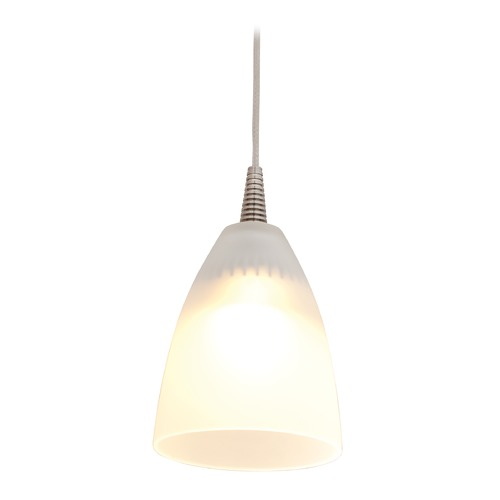 Access Lighting Access Lighting Tungsten Brushed Steel LED Mini-Pendant Light with Bowl / Dome Shade 72119LED-BS/FST
