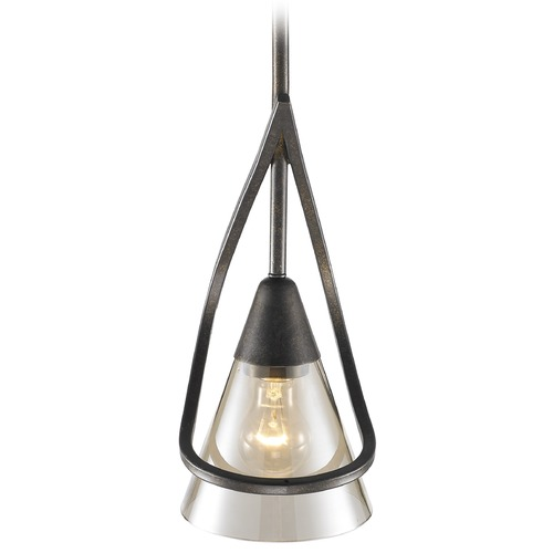 Golden Lighting Golden Lighting Olympia Burnt Sienna Mini-Pendant Light with Conical Shade 1648-M1L BUS