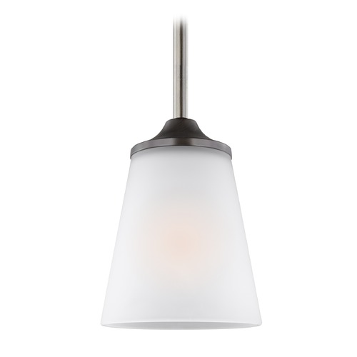 Sea Gull Lighting Sea Gull Hanford Burnt Sienna Mini-Pendant Light with Empire Shade 6124501-710