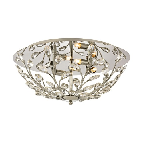 Elk Lighting Elk Lighting Crystique Polished Chrome Flushmount Light 45261/4