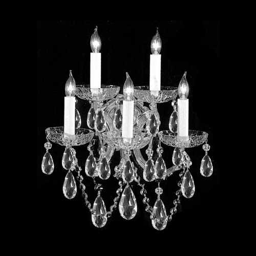 Crystorama Lighting Crystorama Lighting Maria Theresa Polished Chrome Sconce 4404-CH-CL-SAQ