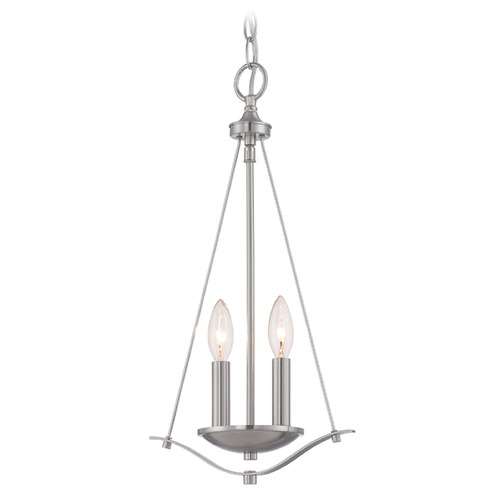 Designers Fountain Lighting Designers Fountain Cassina Satin Platinum Mini-Pendant Light 86930-SP