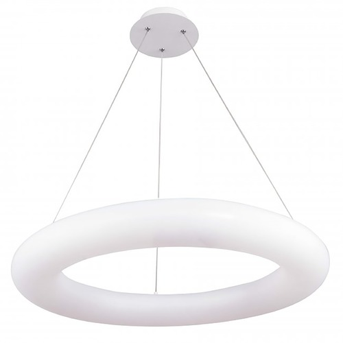 WAC Lighting Wac Lighting Essence White LED Pendant Light with Oblong Shade PD-90971-35-WT