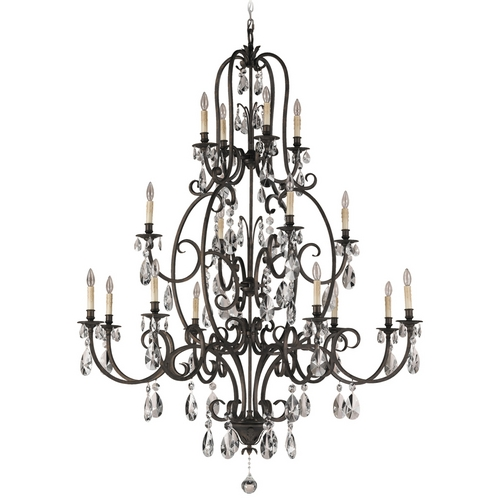Feiss Lighting Crystal Chandelier in Aged Tortoise Shell Finish F2230/8+4+4ATS