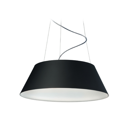 Philips Lighting Modern LED Drum Pendant Light in Black Finish 405503048