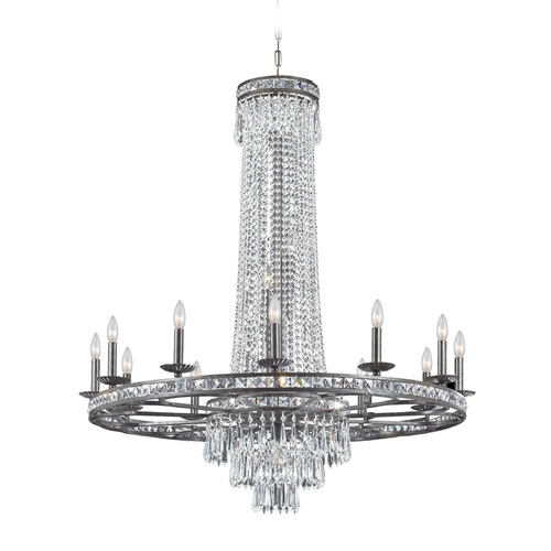Crystorama Lighting Crystal Chandelier in English Bronze Finish 5269-EB-CL-MWP