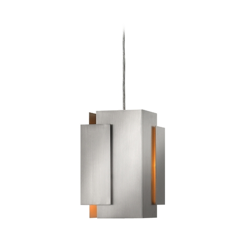 Frederick Ramond Modern Mini-Pendant Light with Grey Shade FR30407BNI