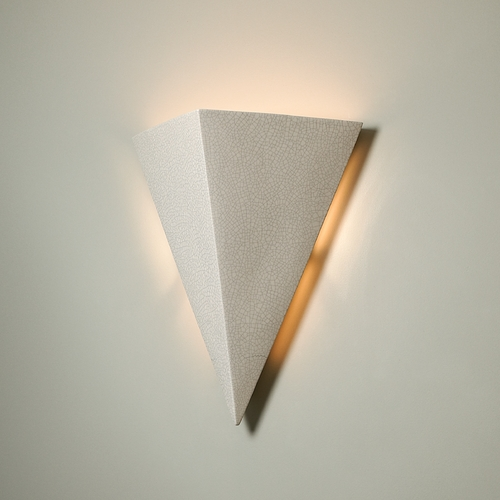 Justice Design Group Sconce Wall Light in White Crackle Finish CER-1140-CRK