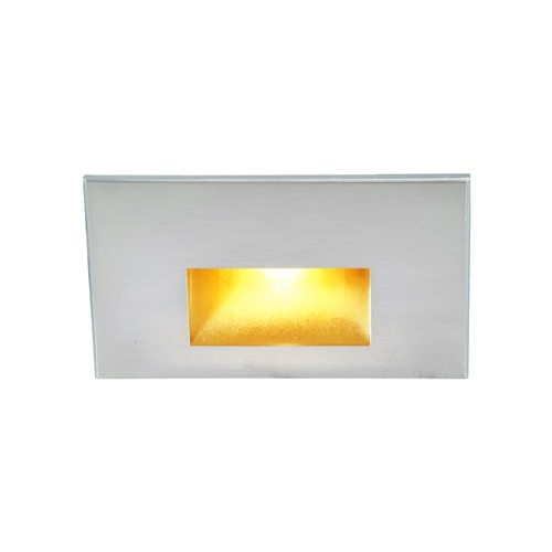 WAC Lighting WAC Lighting Ledme Stainless Steel LED Recessed Step Light with Amber LED WL-LED100F-AM-SS