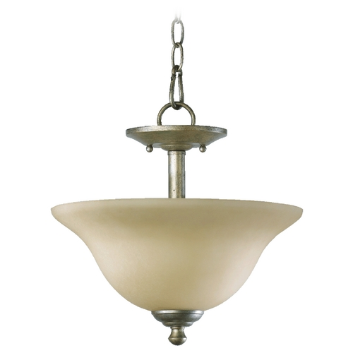 Quorum Lighting Quorum Lighting Spencer Mystic Silver Pendant Light 2810-13-58