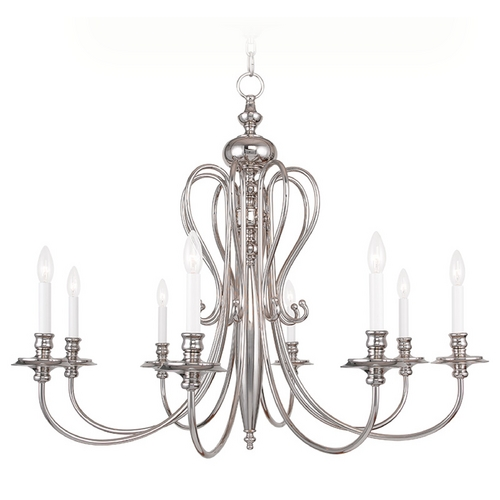 Livex Lighting Livex Lighting Caldwell Polished Nickel Chandelier 5168-35