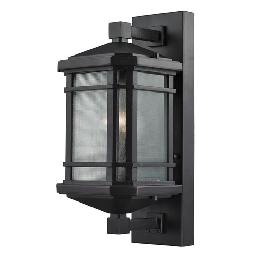 Elk Lighting Elk Lighting Lowell Black Outdoor Wall Light - 17-Inches Tall 87041/1