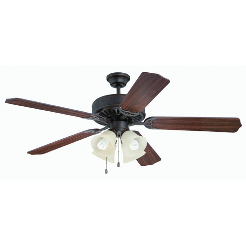Craftmade Lighting Craftmade Pro Builder 204 Aged Bronze Textured Ceiling Fan with Light K11109