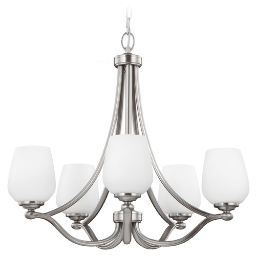 Feiss Lighting Feiss Lighting Vintner Satin Nickel Chandelier F2960/5SN