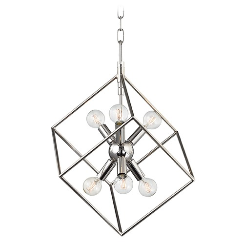 Hudson Valley Lighting Hudson Valley Lighting Roundout Polished Nickel Pendant Light 1215-PN
