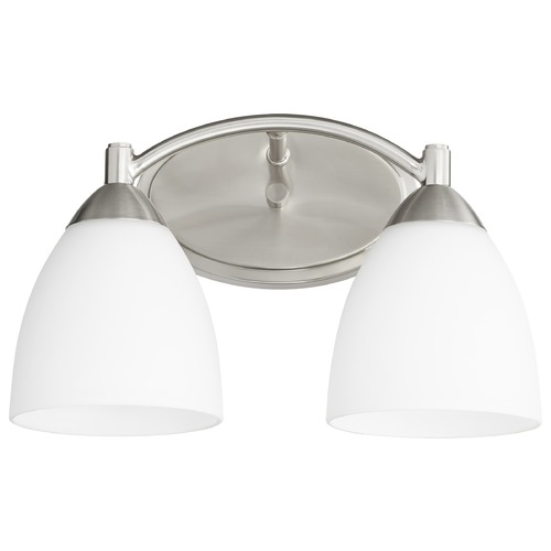 Quorum Lighting Quorum Lighting Barkley Satin Nickel Bathroom Light 5069-2-65