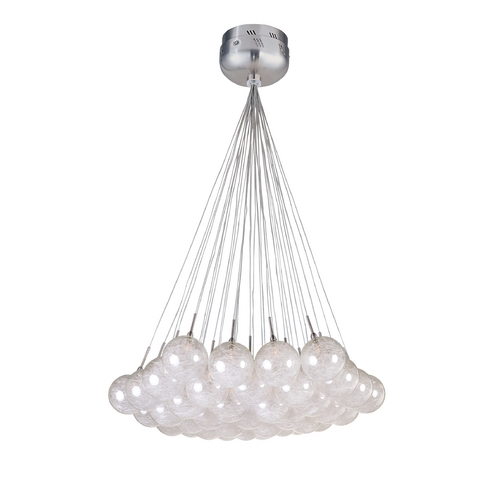 ET2 Lighting Modern Low Voltage Multi-Light Pendant Light with Clear Glass and 37-Lights E20112-79