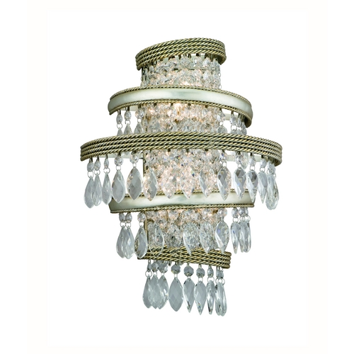 Corbett Lighting Corbett Lighting Diva Silver Leaf W/gold L Sconce 132-12
