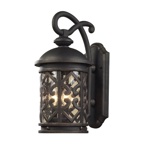 Elk Lighting Outdoor Wall Light with Clear Glass in Weathered Charcoal Finish 42062/3