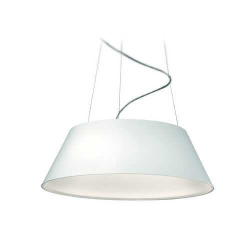 Philips Lighting Modern LED Drum Pendant Light in White Finish 405503148