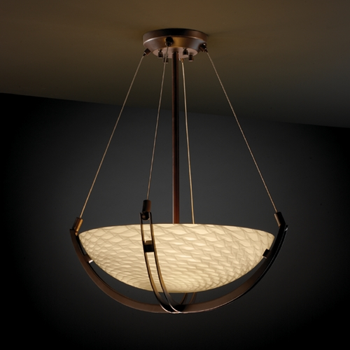 Justice Design Group Justice Design Group Fusion Collection Pendant Light FSN-9721-35-WEVE-DBRZ