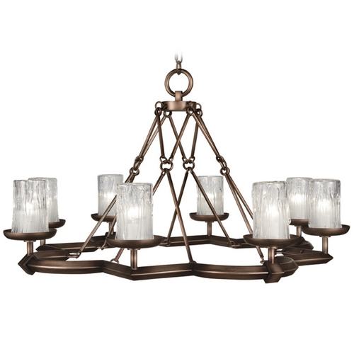 Fine Art Lamps Fine Art Lamps Liaison Antique Hand-Rubbed Bronze Chandelier 860340ST