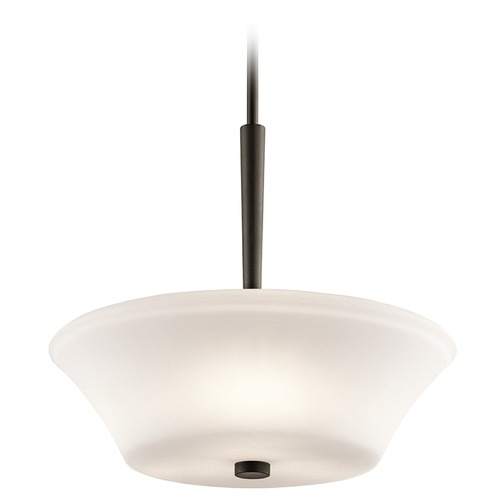 Kichler Lighting Kichler Lighting Aubrey Pendant Light with Bowl / Dome Shade 43667OZ