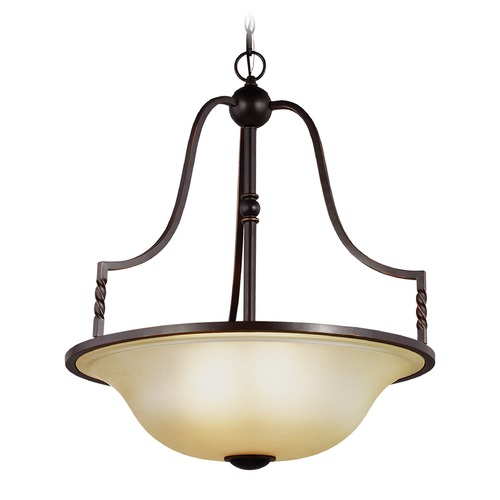 Sea Gull Lighting Sea Gull Lighting Trempealeau Roman Bronze Pendant Light with Bowl / Dome Shade 6610604-191