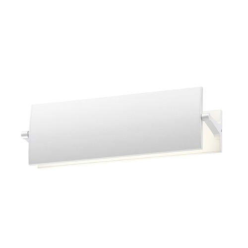 Sonneman Lighting Sonneman Aileron Textured White LED Sconce   2700.98