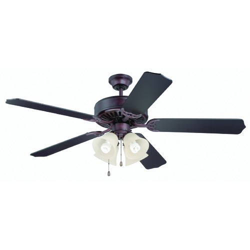Craftmade Lighting Craftmade Pro Builder 204 Oiled Bronze Ceiling Fan with Light K11110