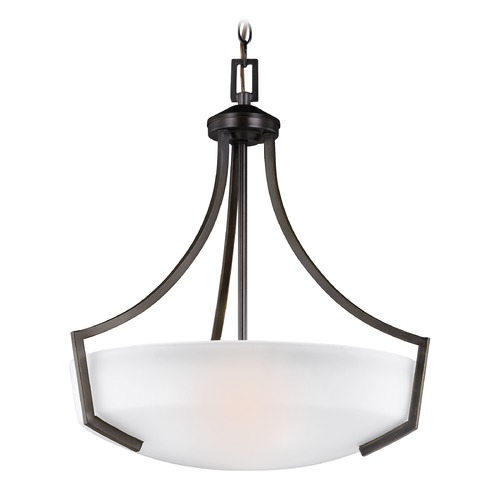 Sea Gull Lighting Sea Gull Hanford Burnt Sienna Pendant Light 6624503-710