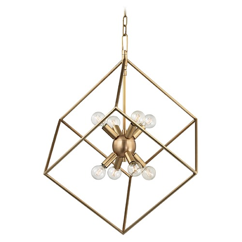 Hudson Valley Lighting Hudson Valley Lighting Roundout Aged Brass Pendant Light 1220-AGB